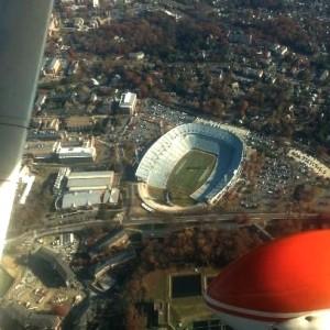 Scenic flight over Charlottesville