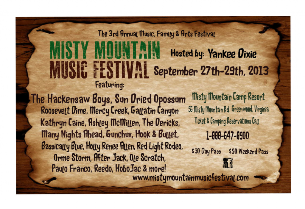 Misty Mountain Music Festival 2013