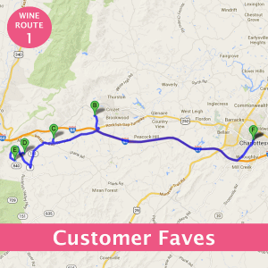 Charlottesville Wine Route Customer Faves