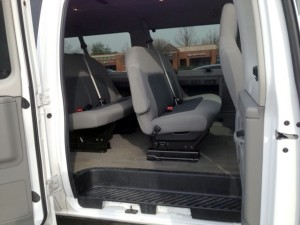 Large van interior