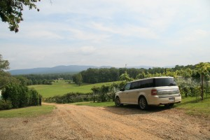 Tour Charlottesville wineries and breweries in a comfortable Ford Flex that seats up to 6 people