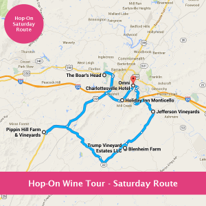 Hop-On Wine Tour - Saturday Route