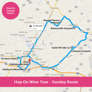 Hop-On Wine Tours - Sunday Route