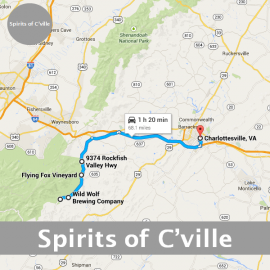 Spirits of Charlottesville Route